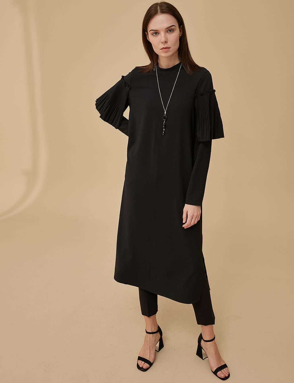 Pleated Tunic A9 21276 Black