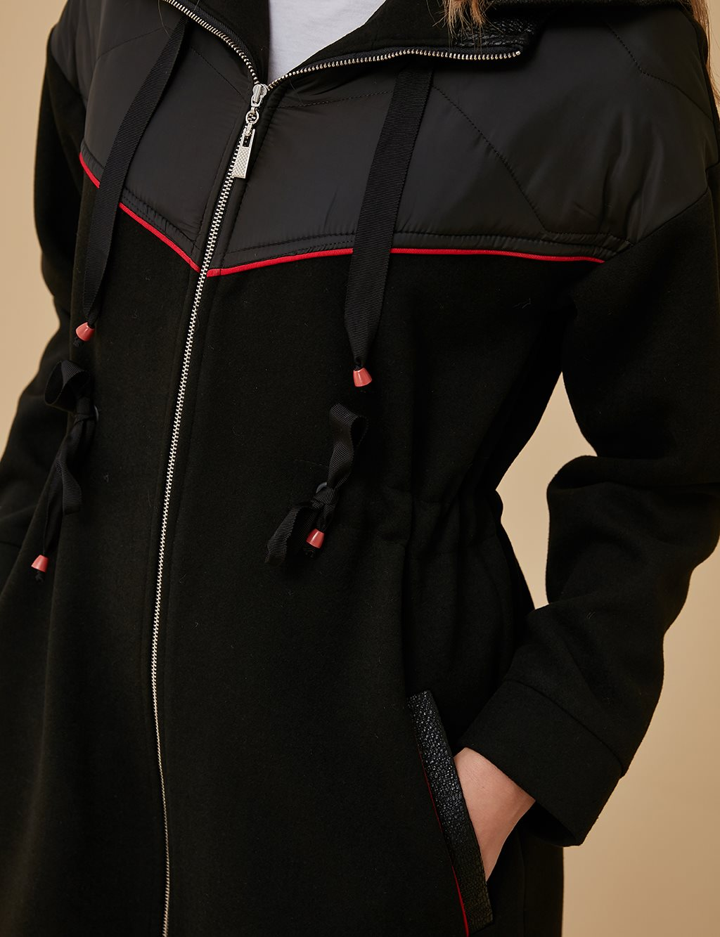 Quilted Coat A9 24013 Black