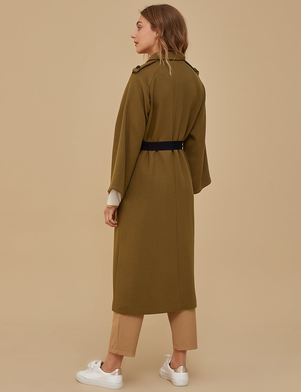 KYR Three Quarter Sleeve Coat Khaki | Navy A9 77004