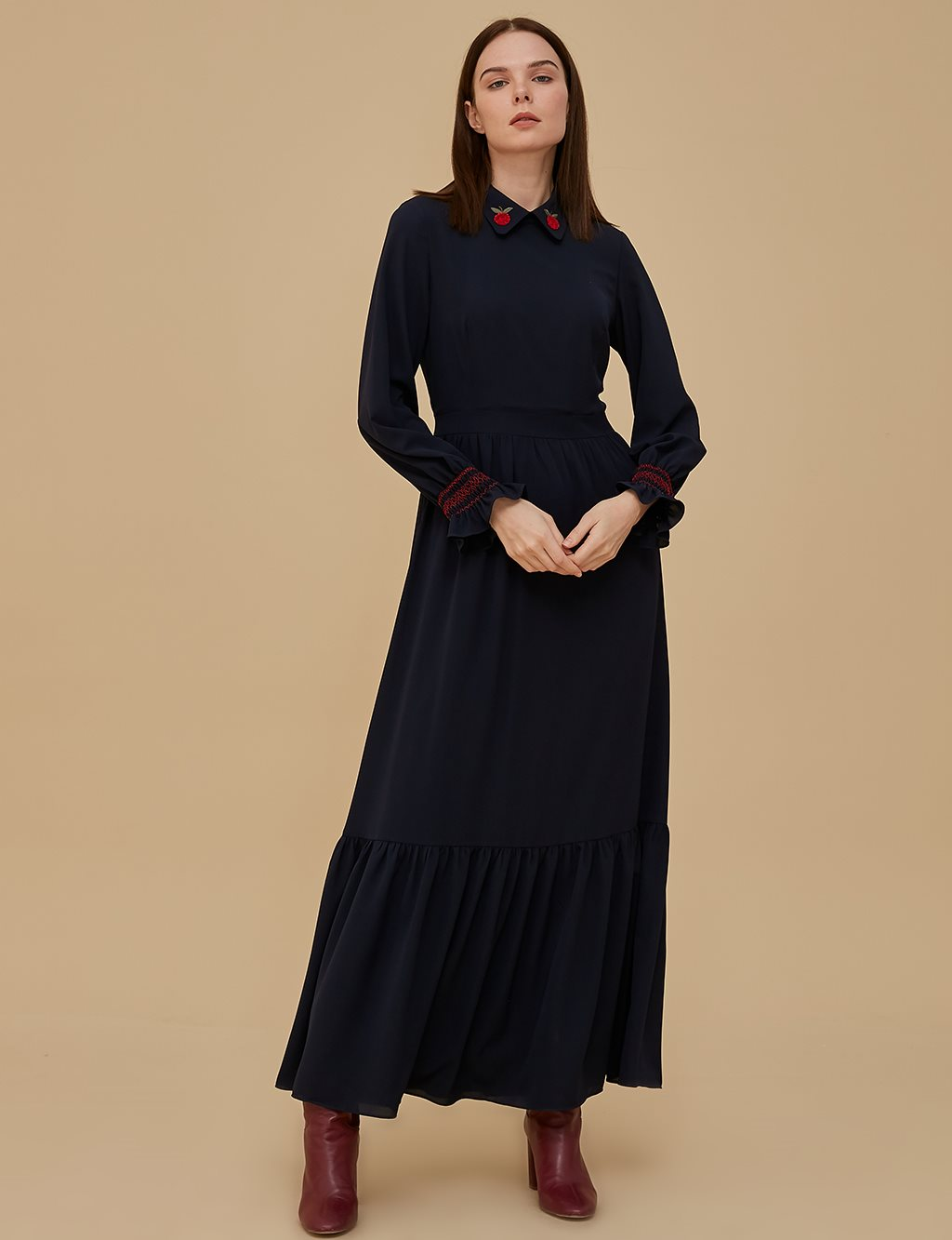 KYR Embroidered Dress A9 83001 Navy