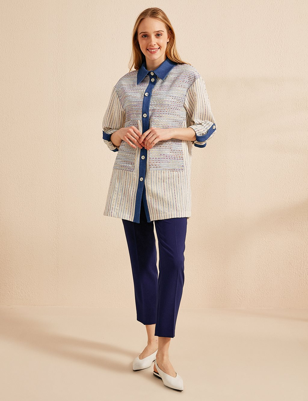 KYR Striped Jacket B20 73004 Blue