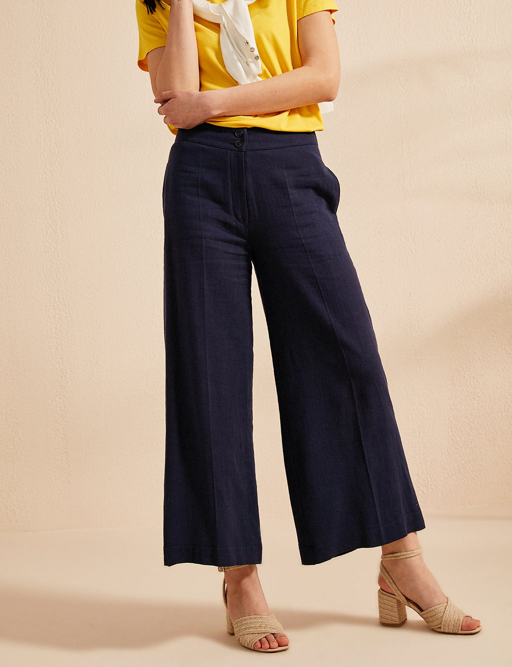 Wide Leg Pants B20 19011 Navy