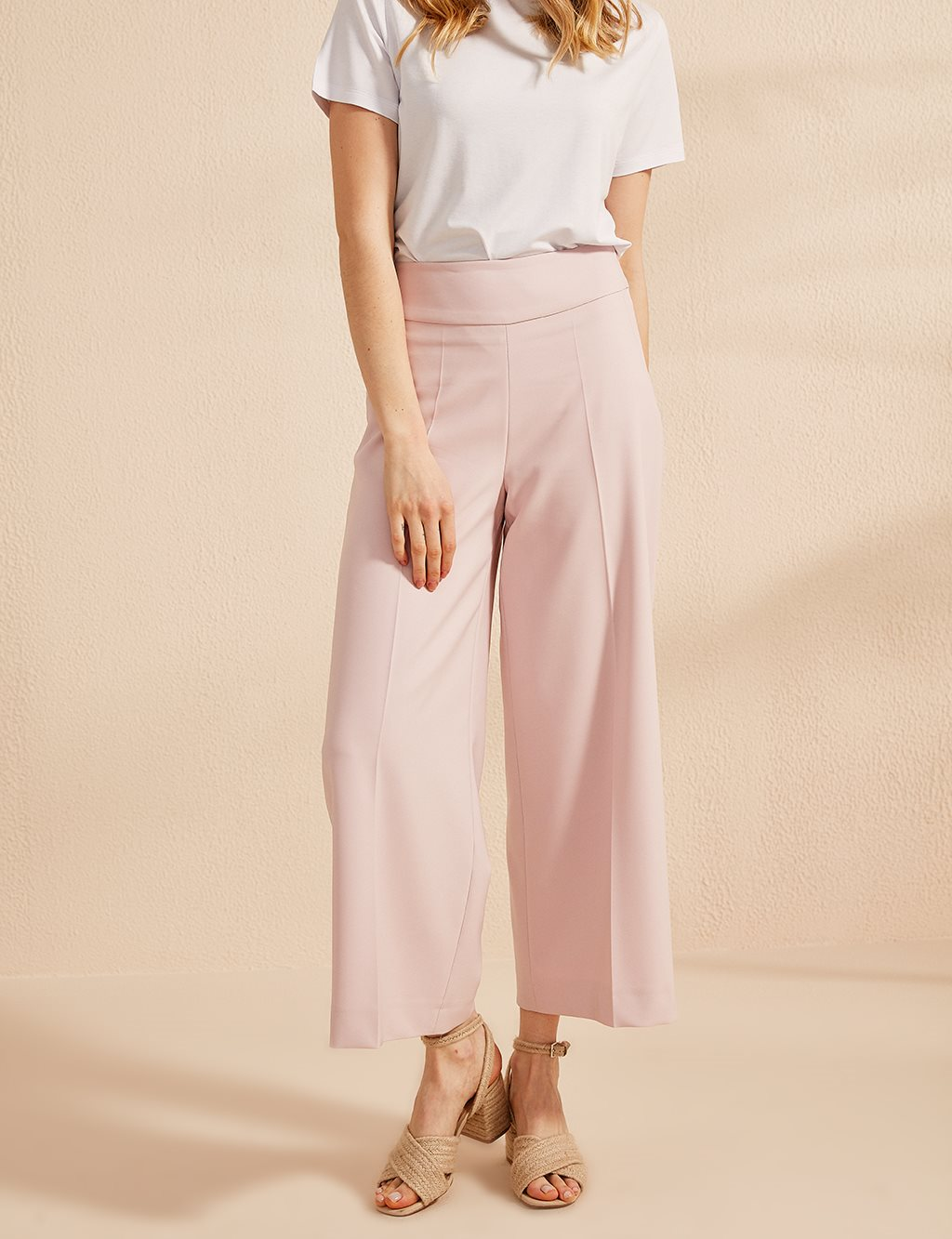 KYR High Waist Oversize Pants B20 79001 Powder