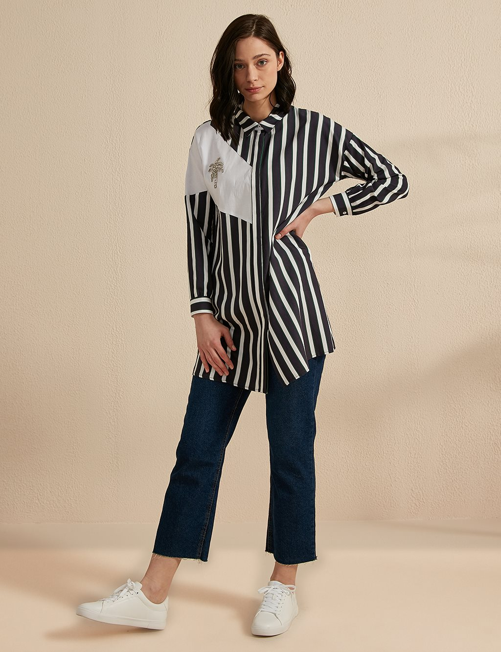 KYR Striped Tunic B20 81013 Navy