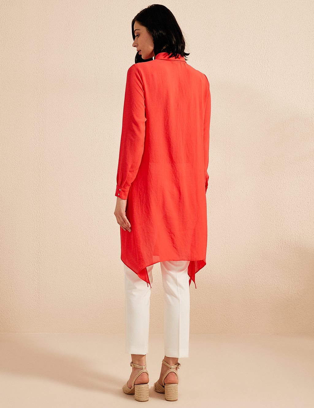 KYR Embroidered Asymmetric Tunic B20 81019 Red