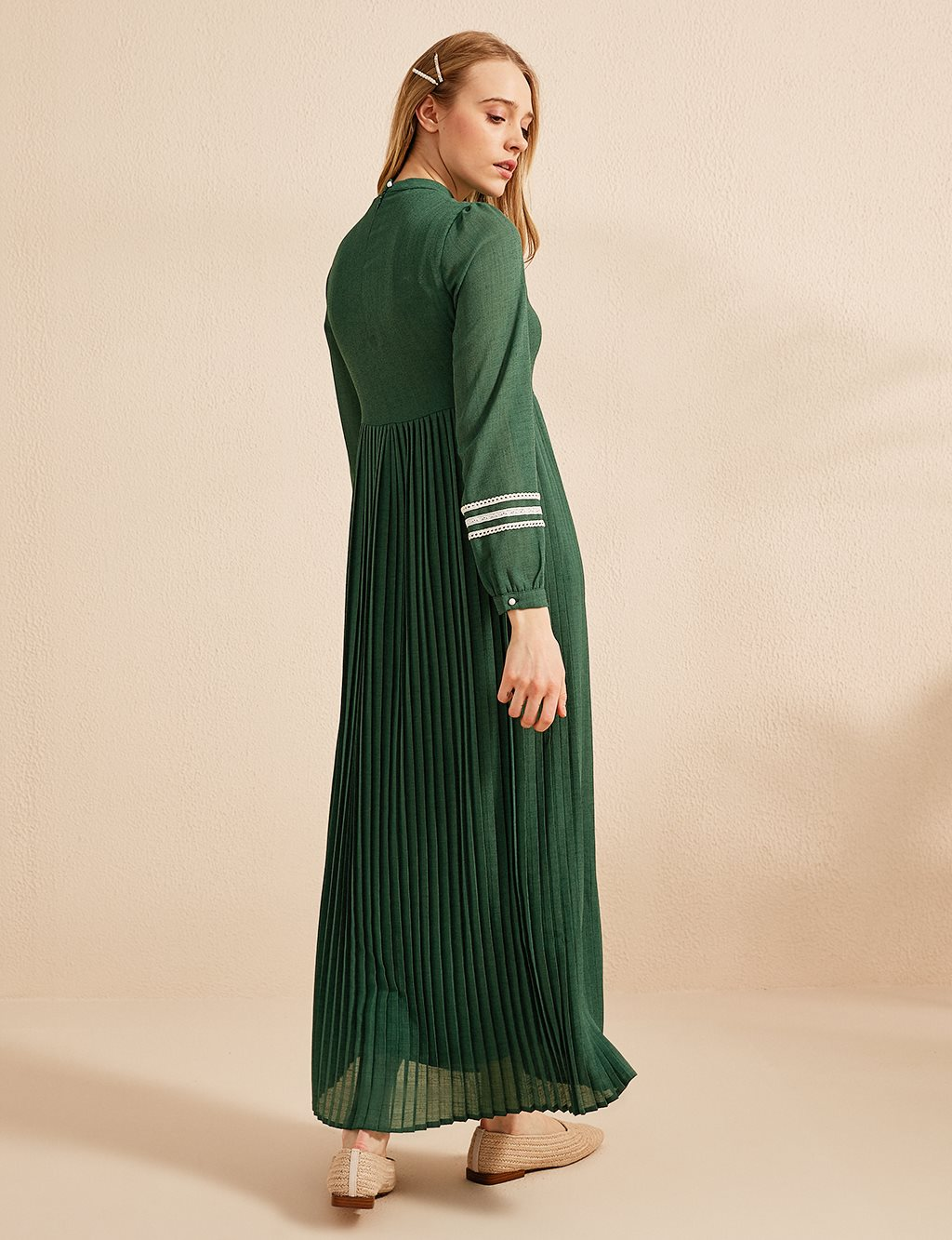 KYR Dress With Pleated Skirt B20 83010 Green
