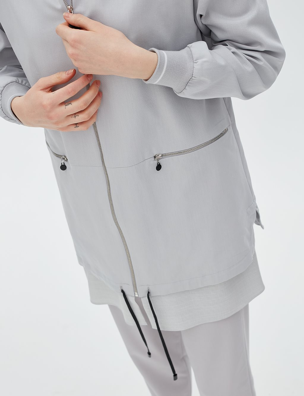 Double Piece Jacket B20 13010 Grey