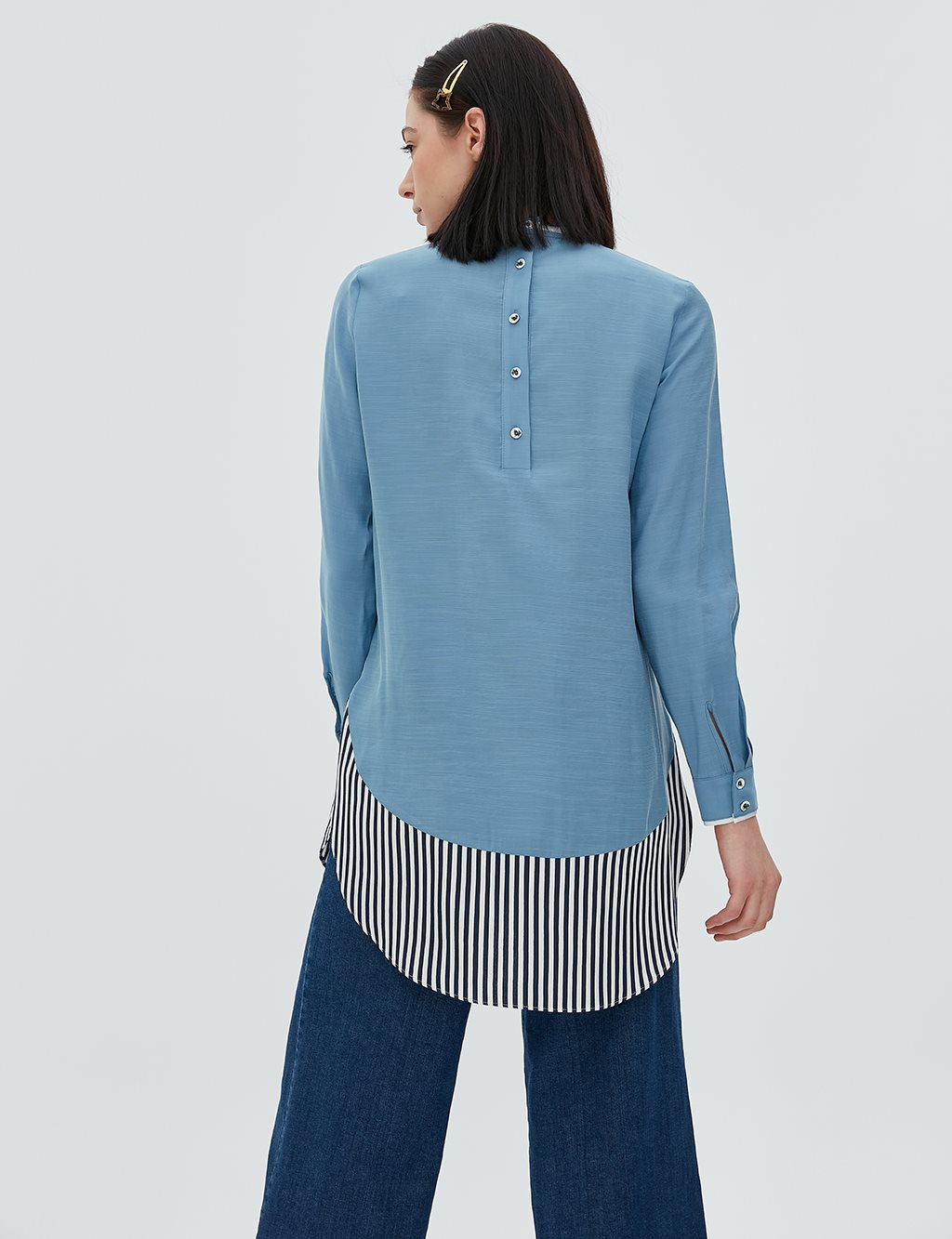 Tunic With Striped Piece B20 21023 Blue