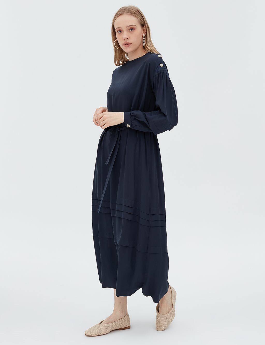 Dress With Belt B20 23006 Navy