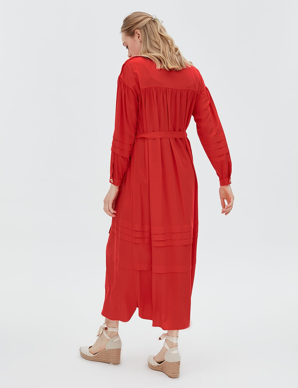 Dress With Belt B20 23006 Red