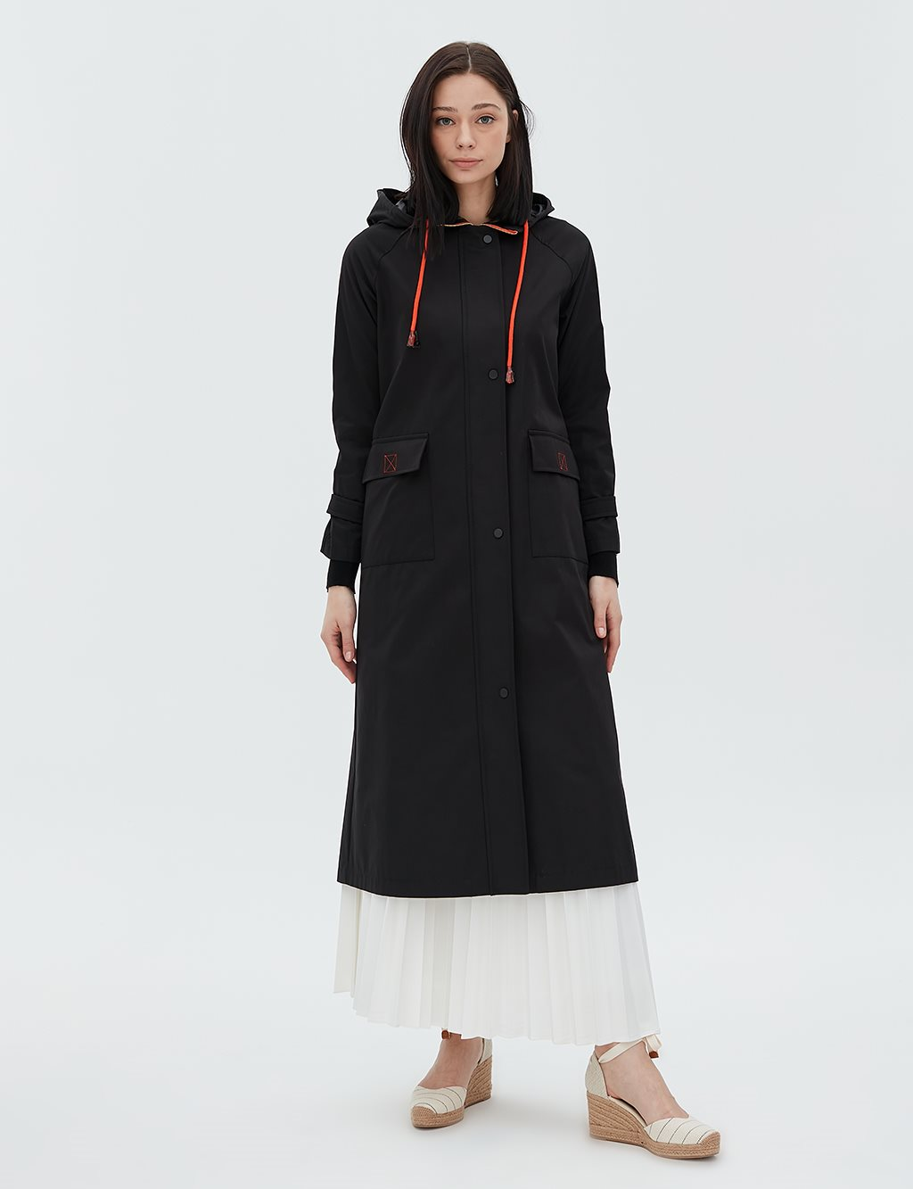 Overcoat With Hood B20 24004 Black