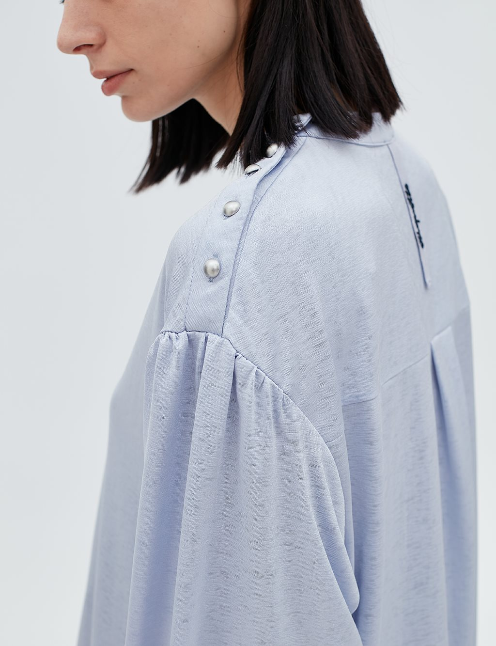 Button Detailed Blouse B20 10050 Blue