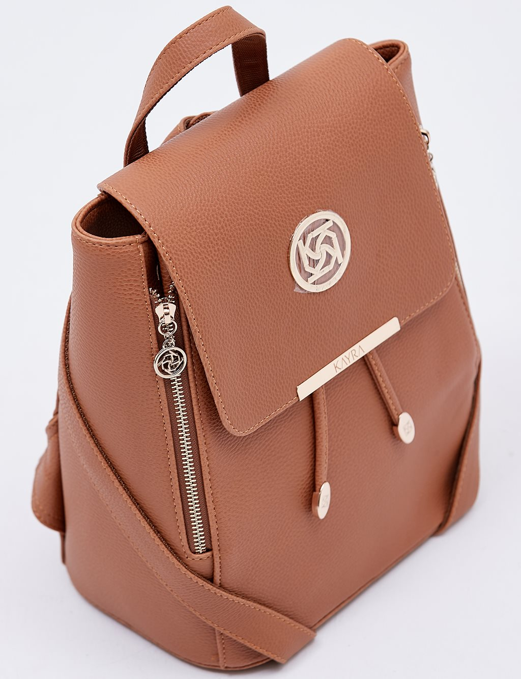 Backpack With Zipper B20 CNT01 Taba