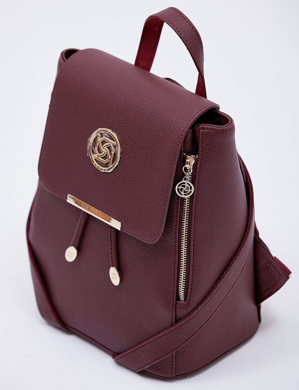 Backpack With Zipper B20 CNT01 Burgundy