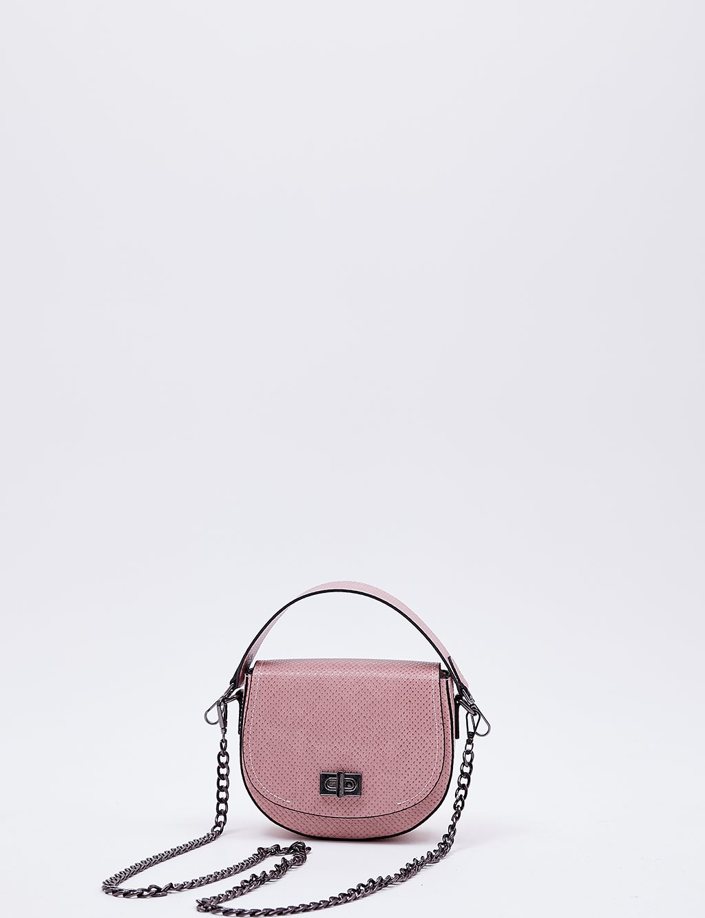 Hand Bag With Metal Detail B20 CNT31 Powder