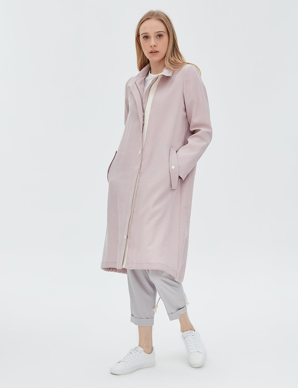 Oversize Coat Powder B20 24003