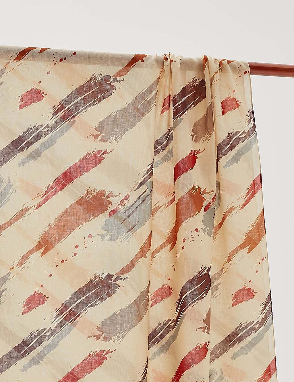 Patterned Cotton Shawl B20 SAL07 Beige