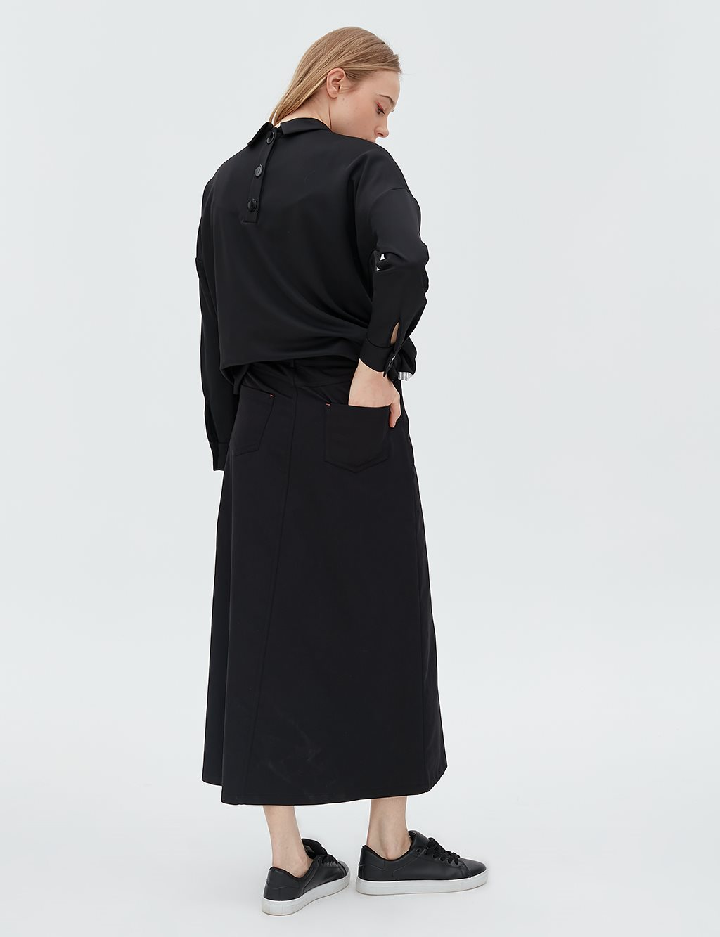 Skirt With Pocket Detailed B20 12017 Black