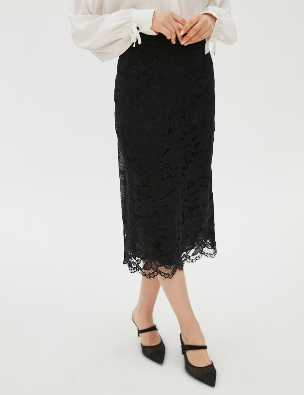 Lace Skirt B20 12042 Black