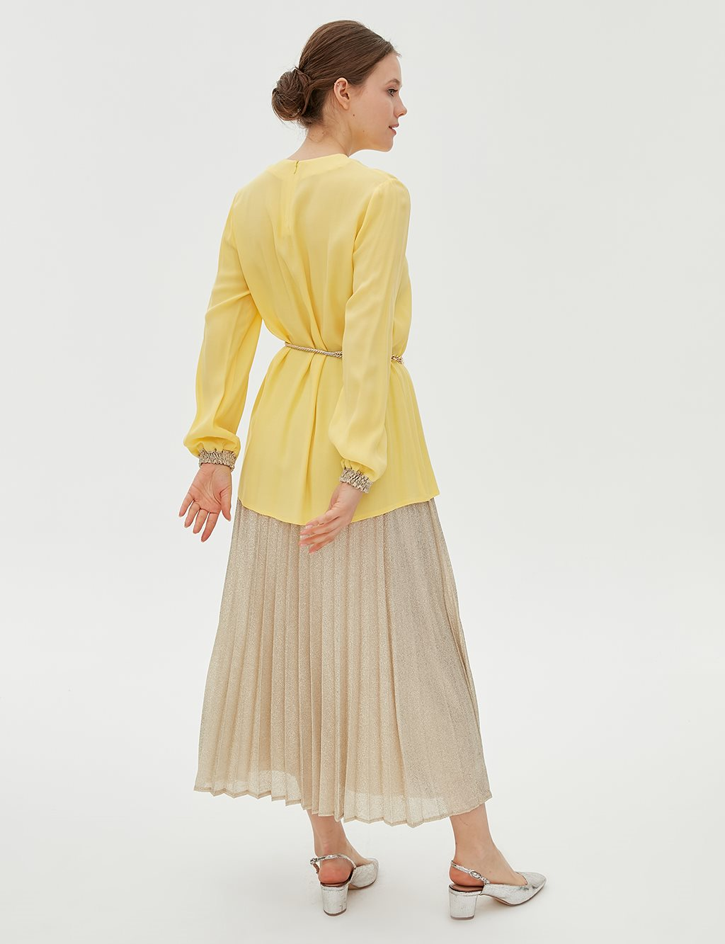 Suit With Belt B20 16014 Yellow