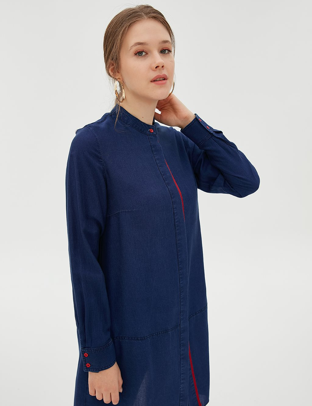 Collar Detailed Tunic B20 21049 Navy