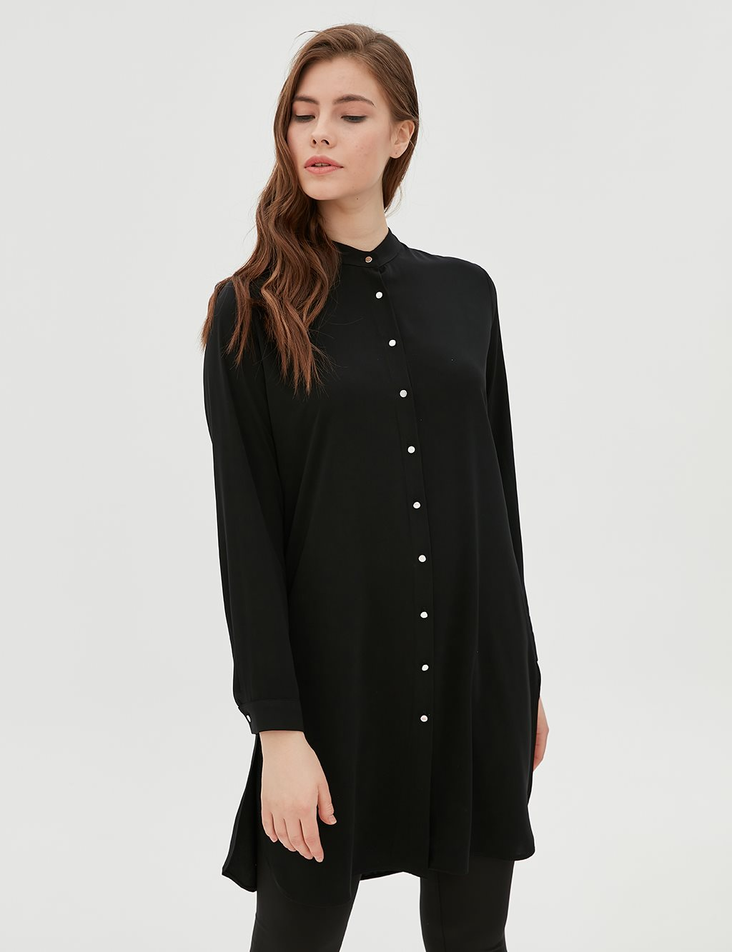 Tunic With Button SZ 21505 Black