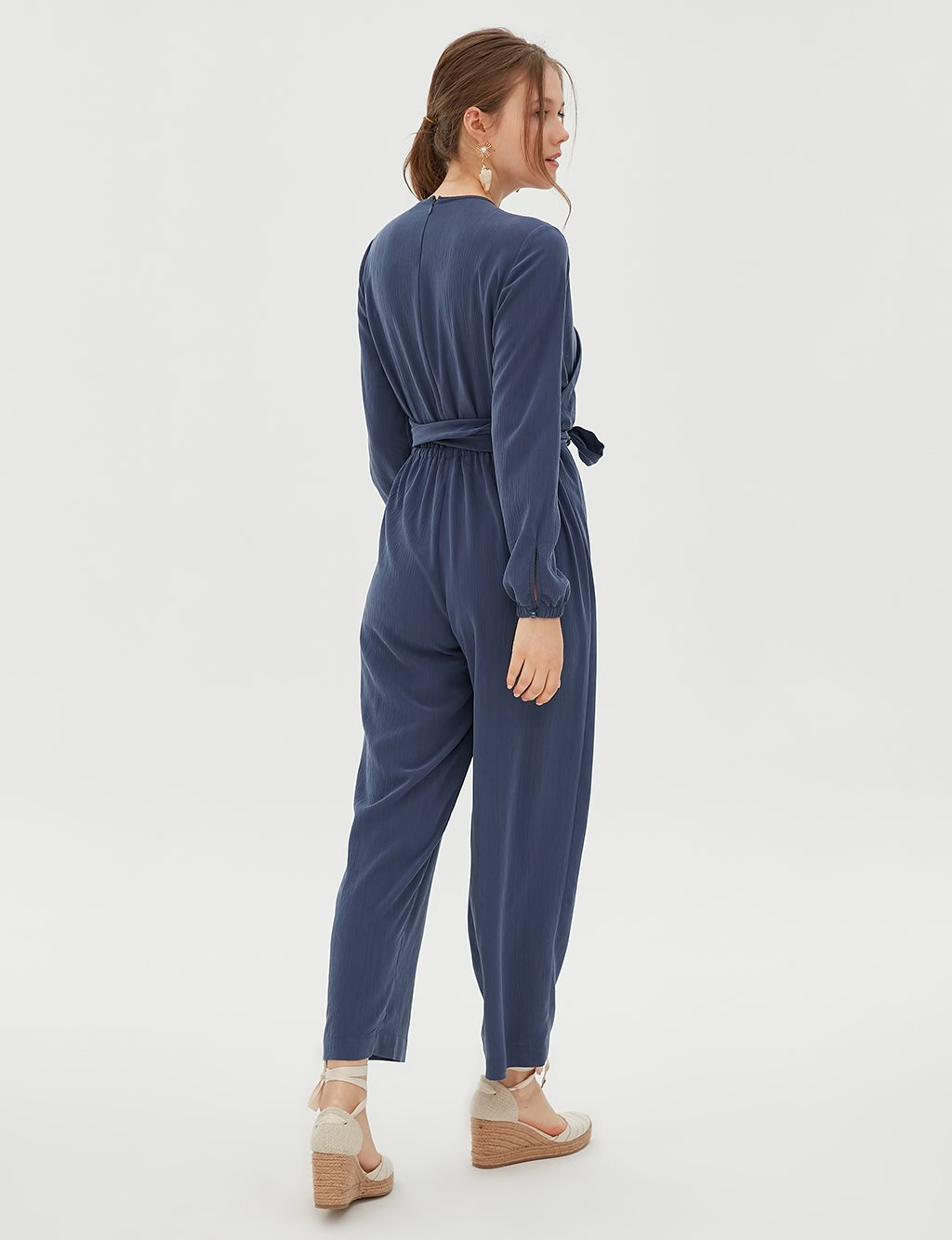Jumpsuit With Belt B20 22004 Indigo