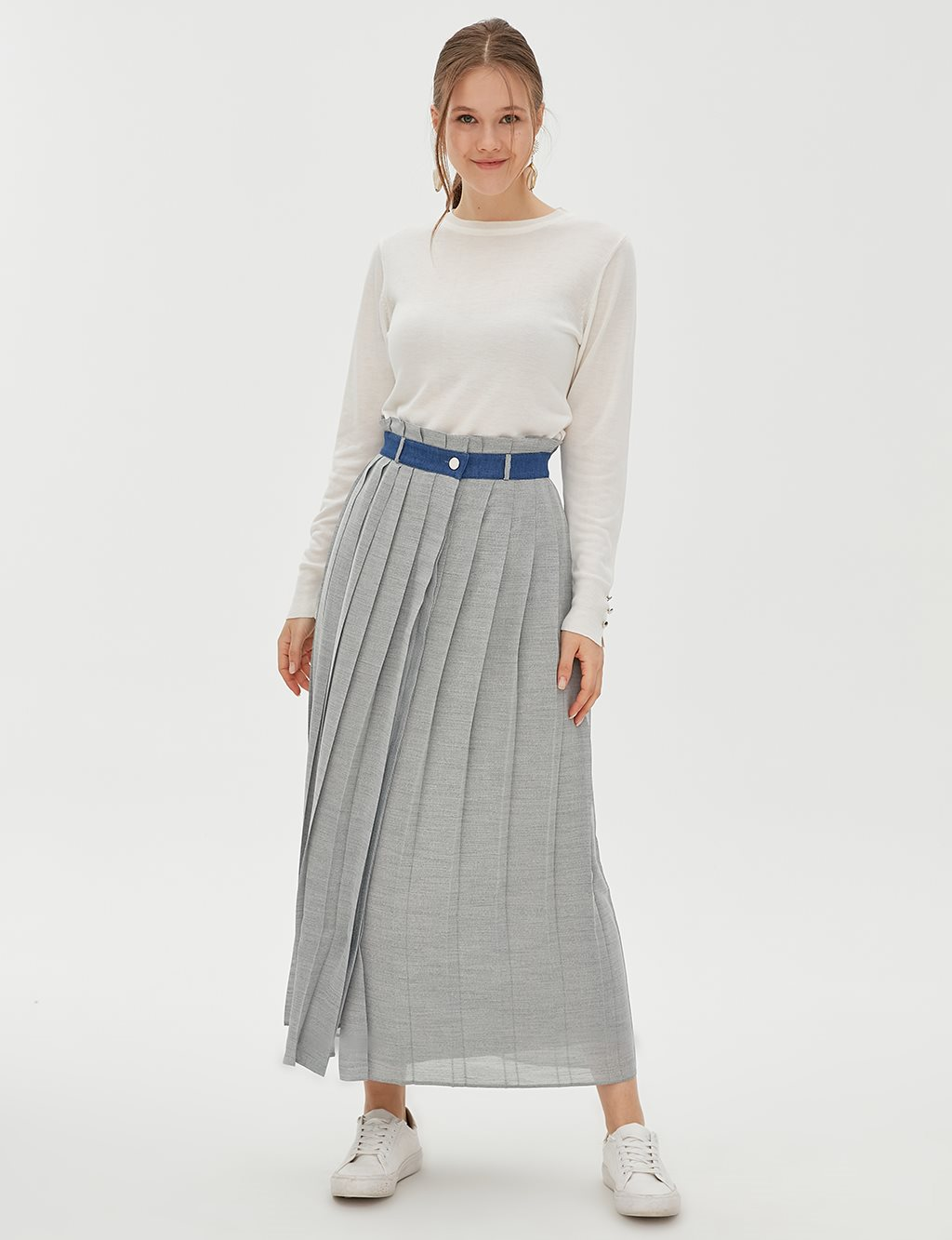 KYR Pleated Skirt B20 72003 Grey