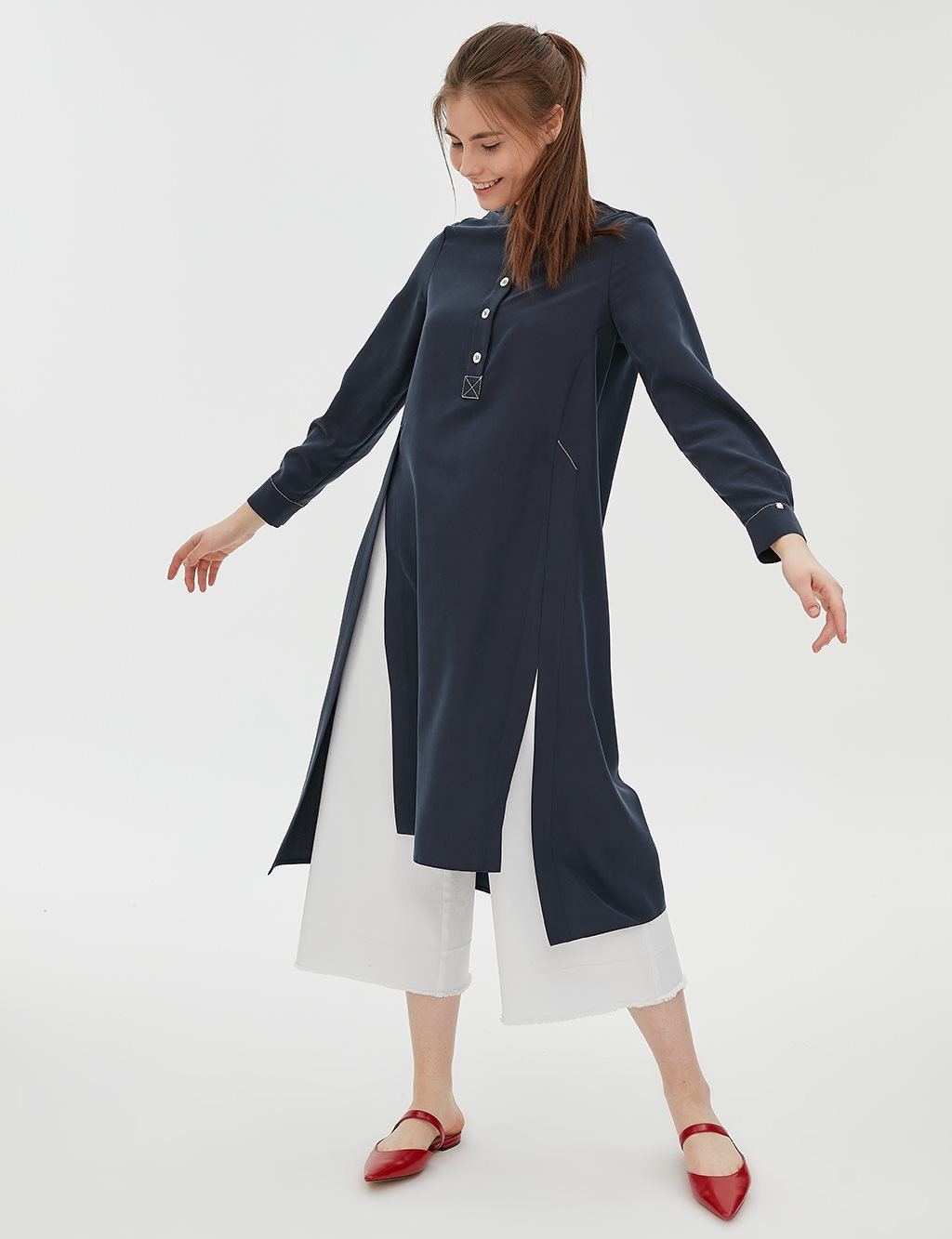 KYR Slit Tunic B20 81007 Navy
