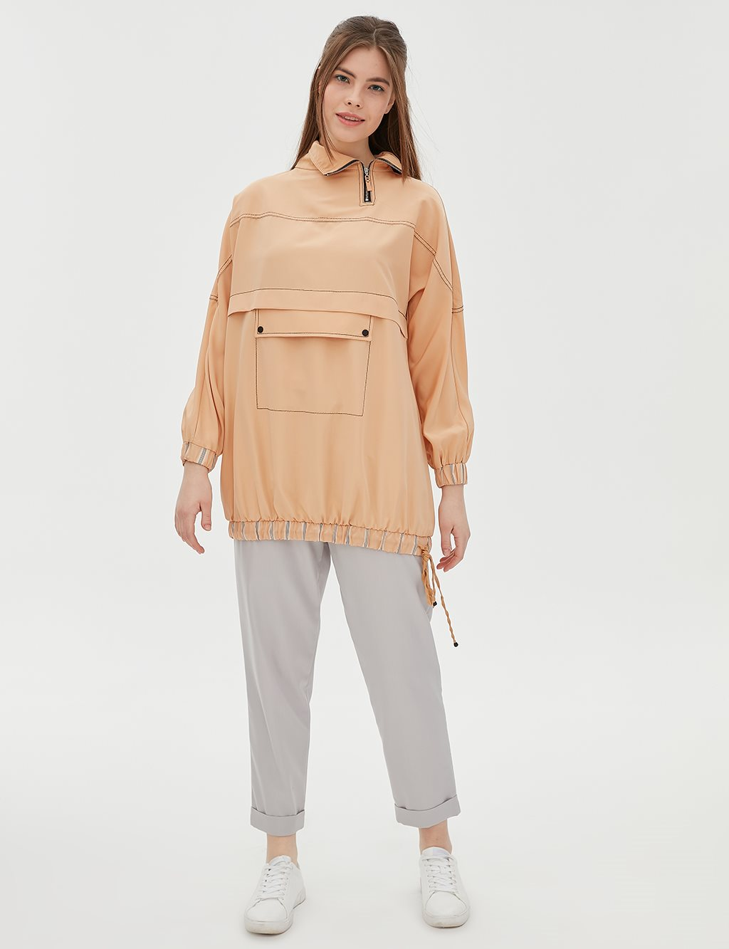 Ruched Tunic B20 21056 Beige