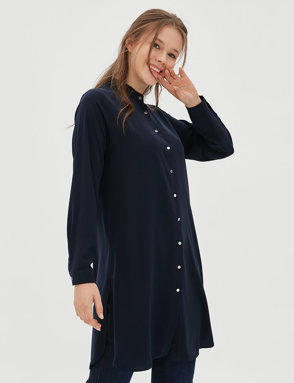 Tunic With Button SZ 21505 Navy