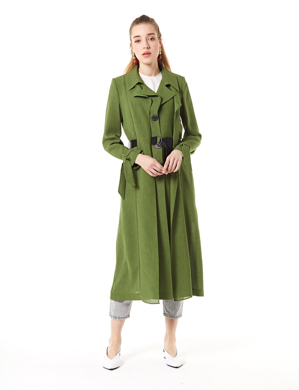 Trenchcoat With Belt B20 14025 Green