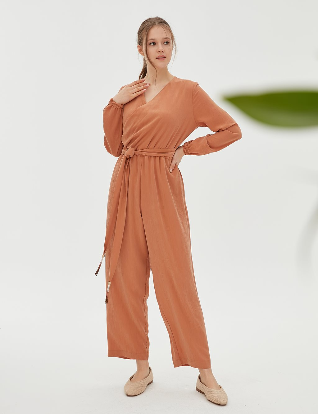 Jumpsuit With Belt B20 22004 Tile