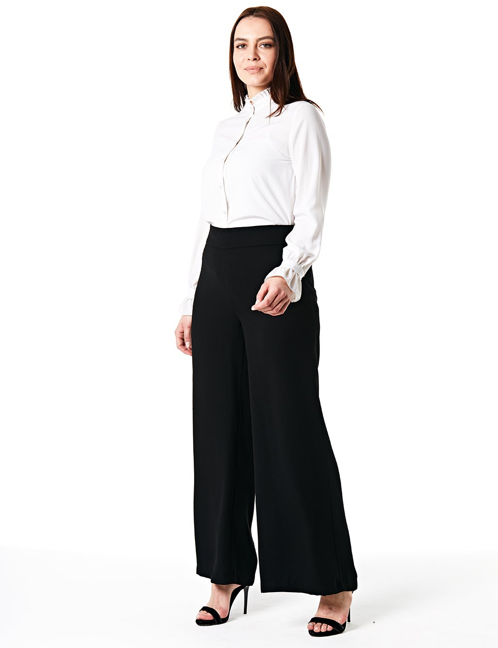 Wide Leg Oversize Pants B20 19163 Black