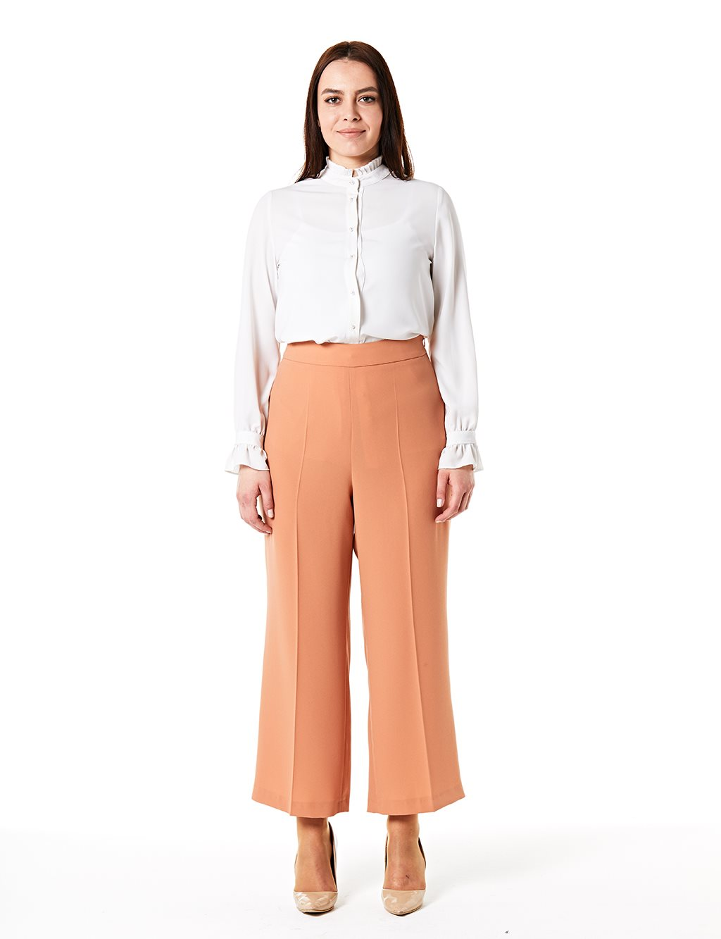 Wide Leg Oversize Pants B20 19163 Light Pink