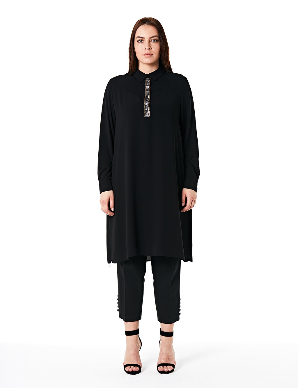KYR Patterned Oversize Tunic Black B20 81325