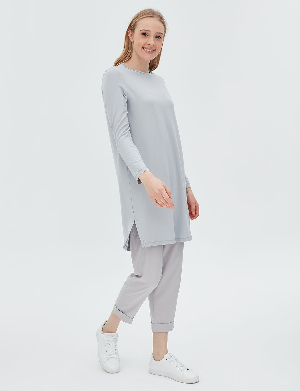 Basic Blouse Grey SZ 10506