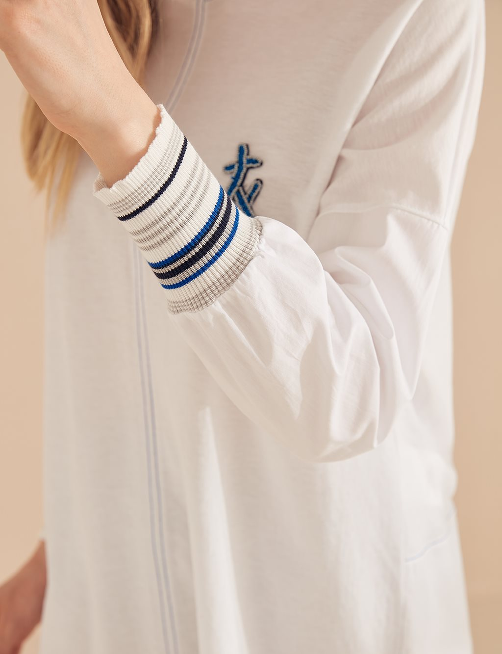 Rib Bomber Jacket B20 21066 White