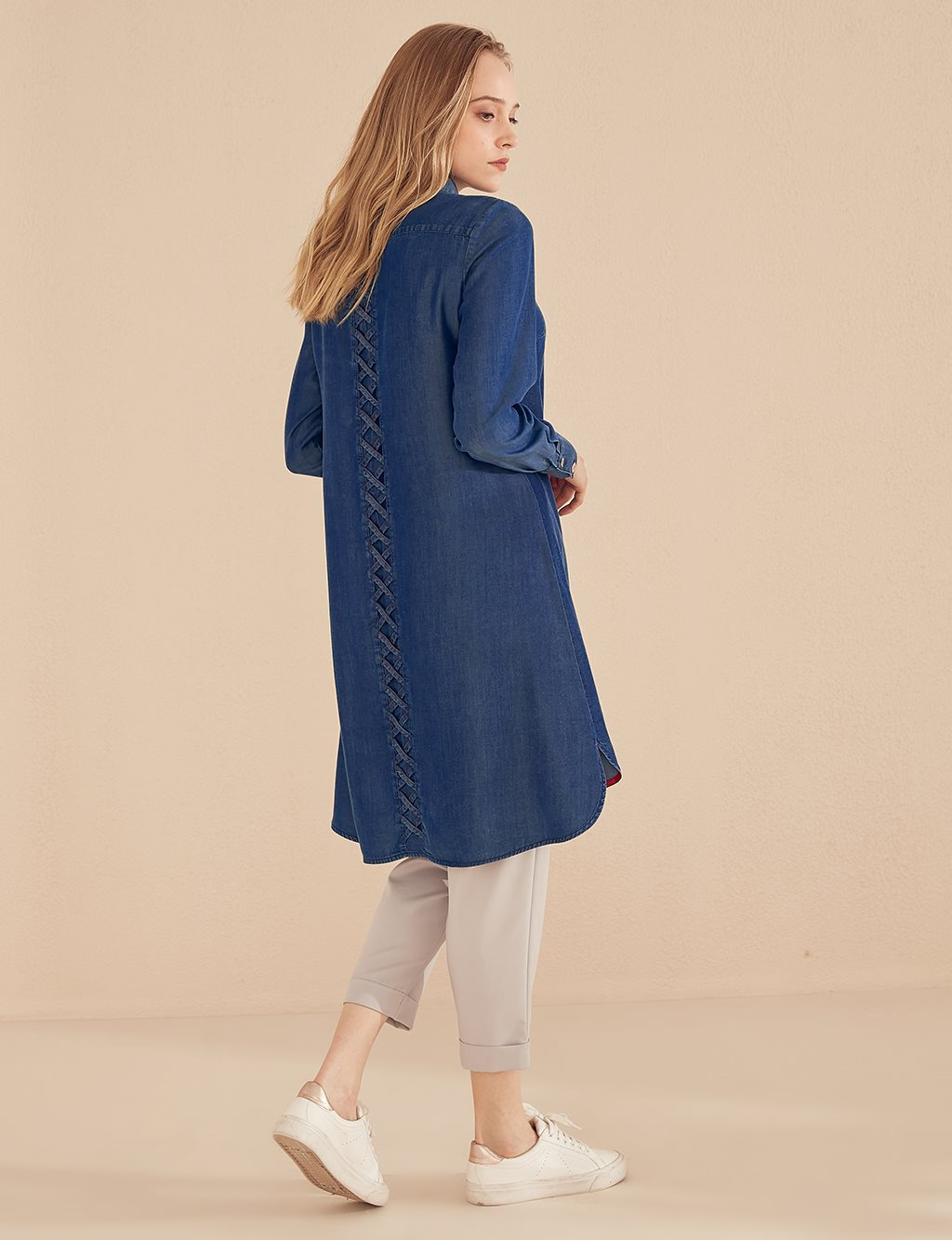 Basic Detailed Tunic B20 21115 Indigo