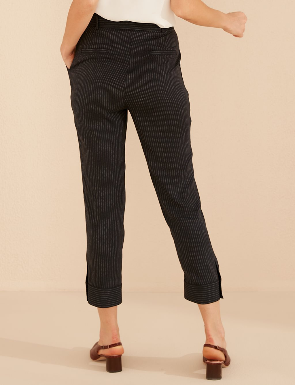 Button Detailed Pants B20 19153 Navy