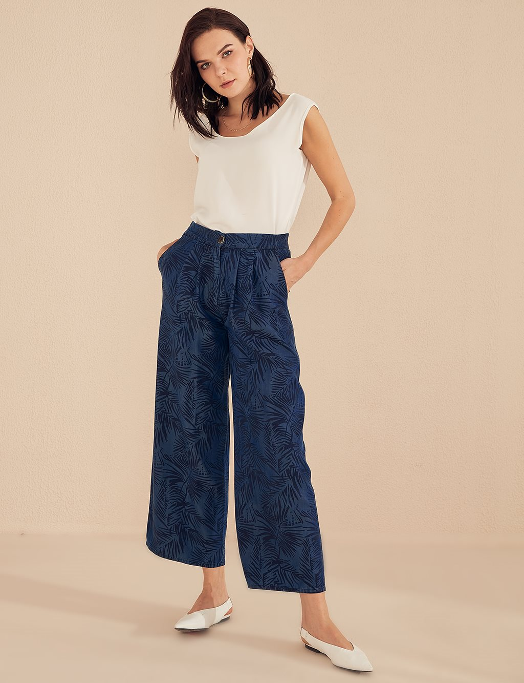 Oversize Tencel Pants B20 19188 Navy