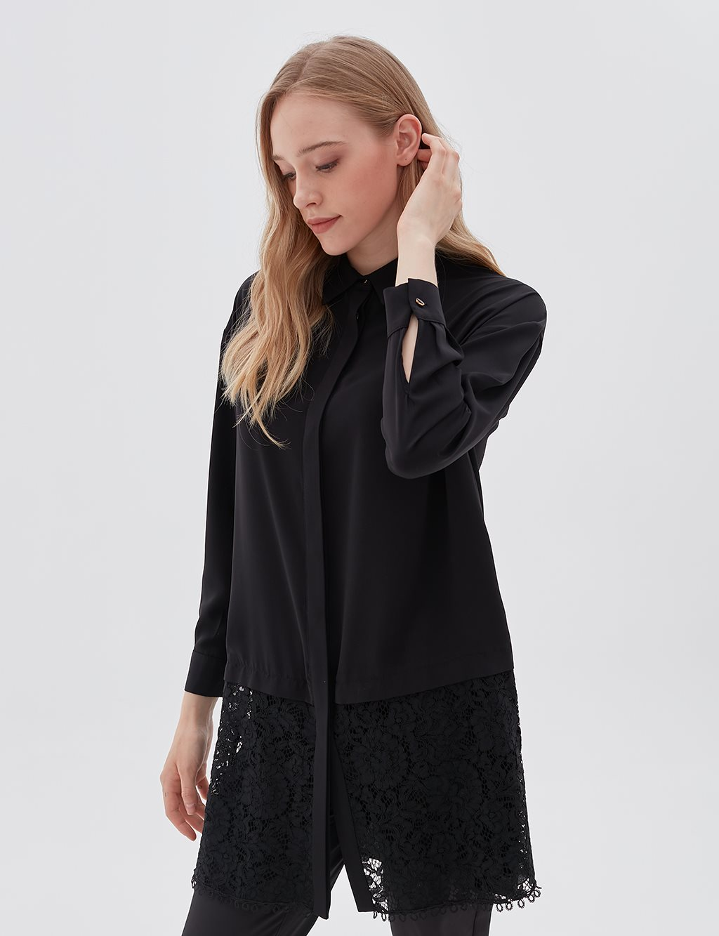 KYR Lace Detailed Tunic B20 81340 Black