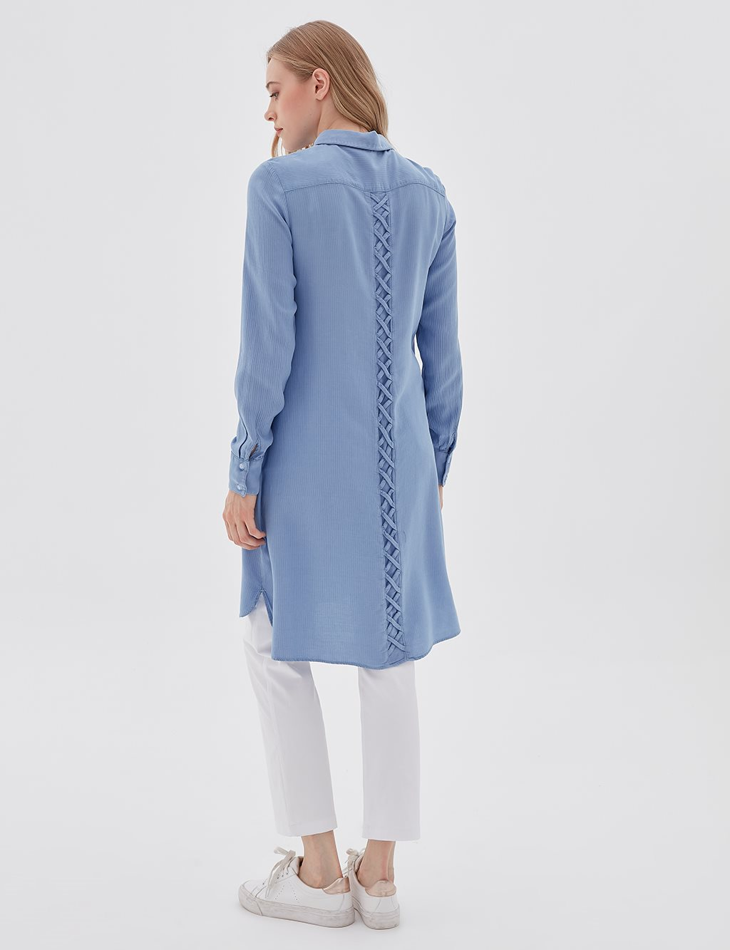 Detailed Striped Tunic Blue B20 21098