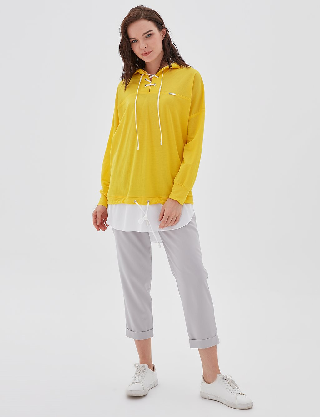 Double Pieced Sweatshirt B20 21100 Yellow