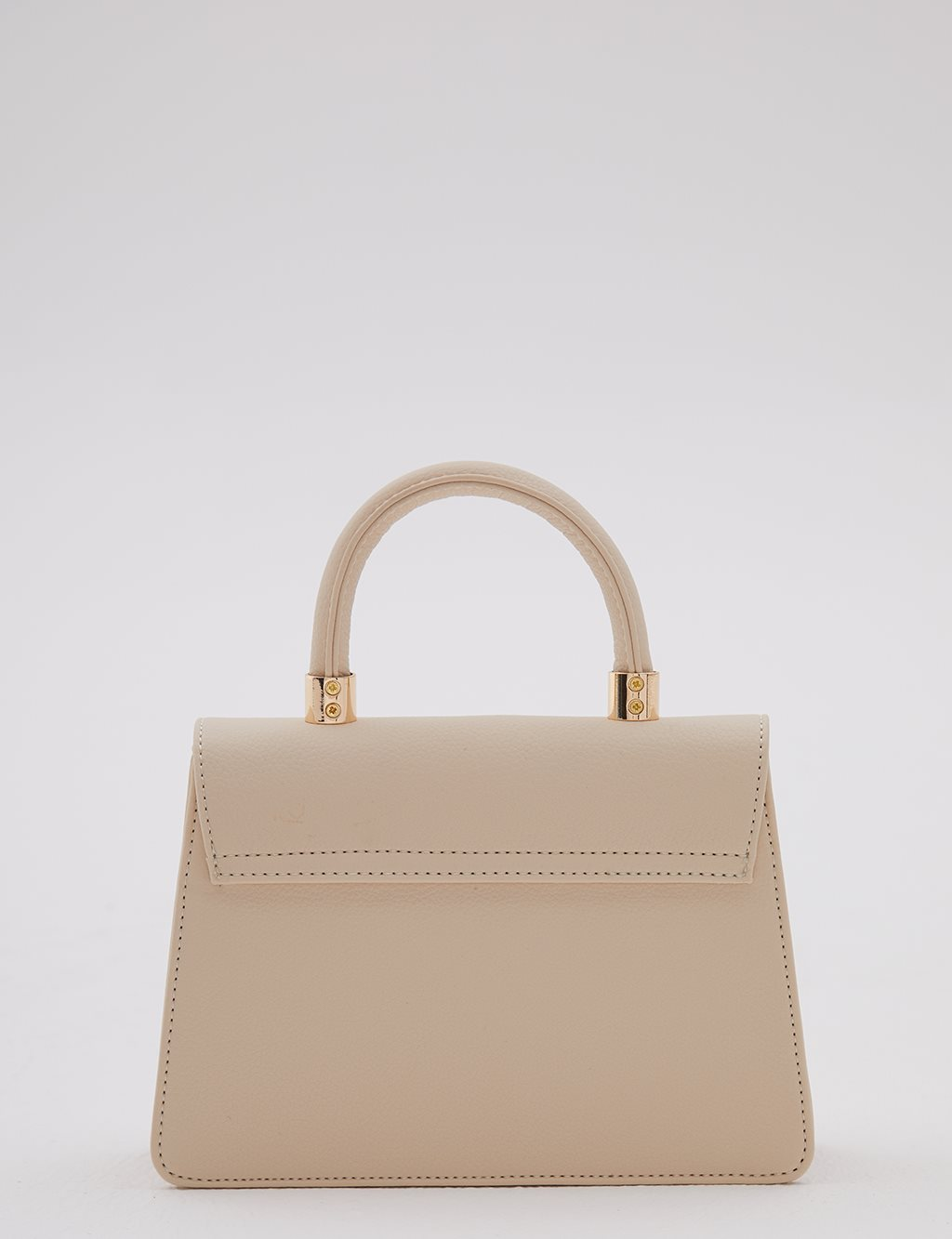 Faux Leather Bag With Magnetic Closure A20 CNT40 Beige