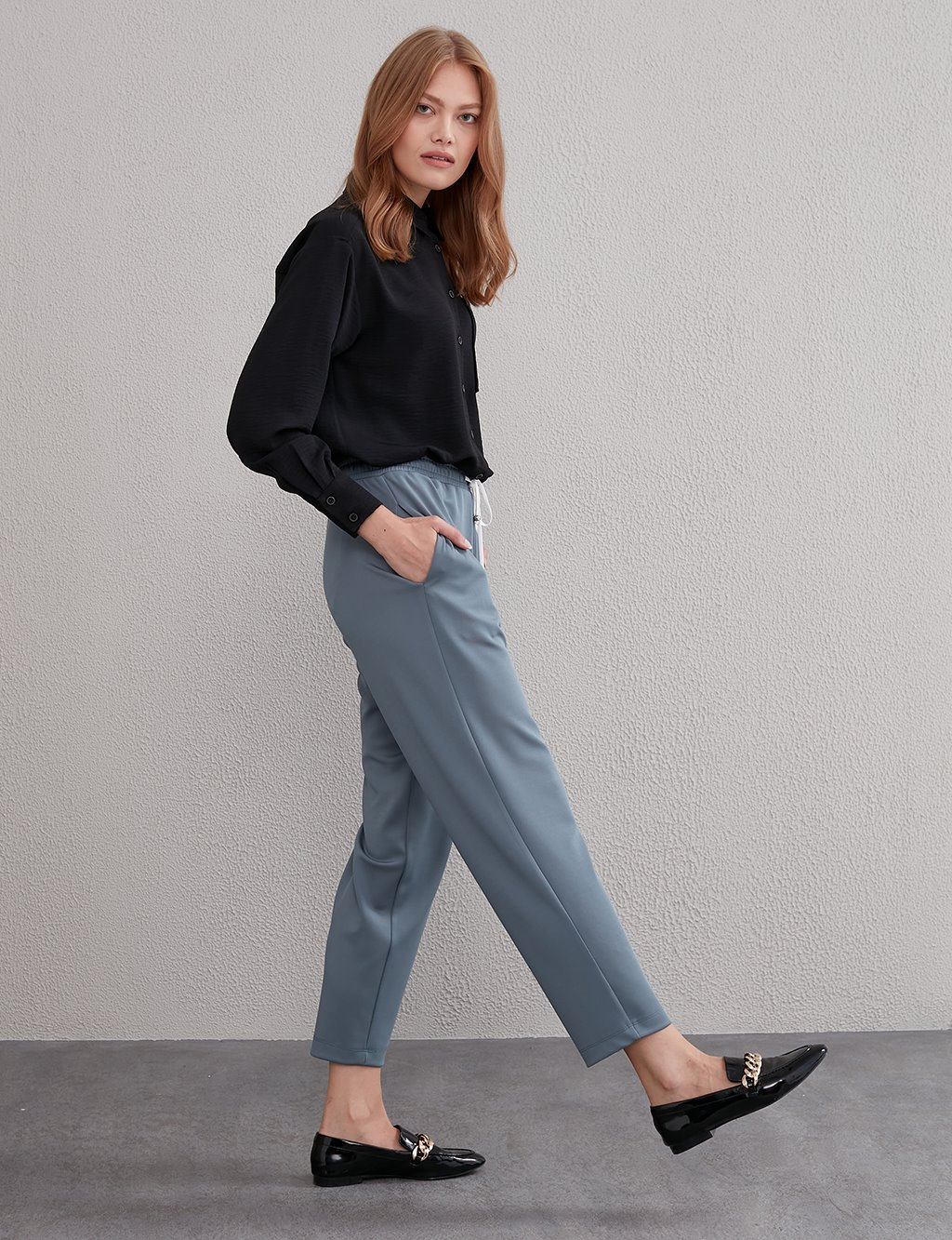KYR Elastic Waist Pants A20 79567 Dark Gray