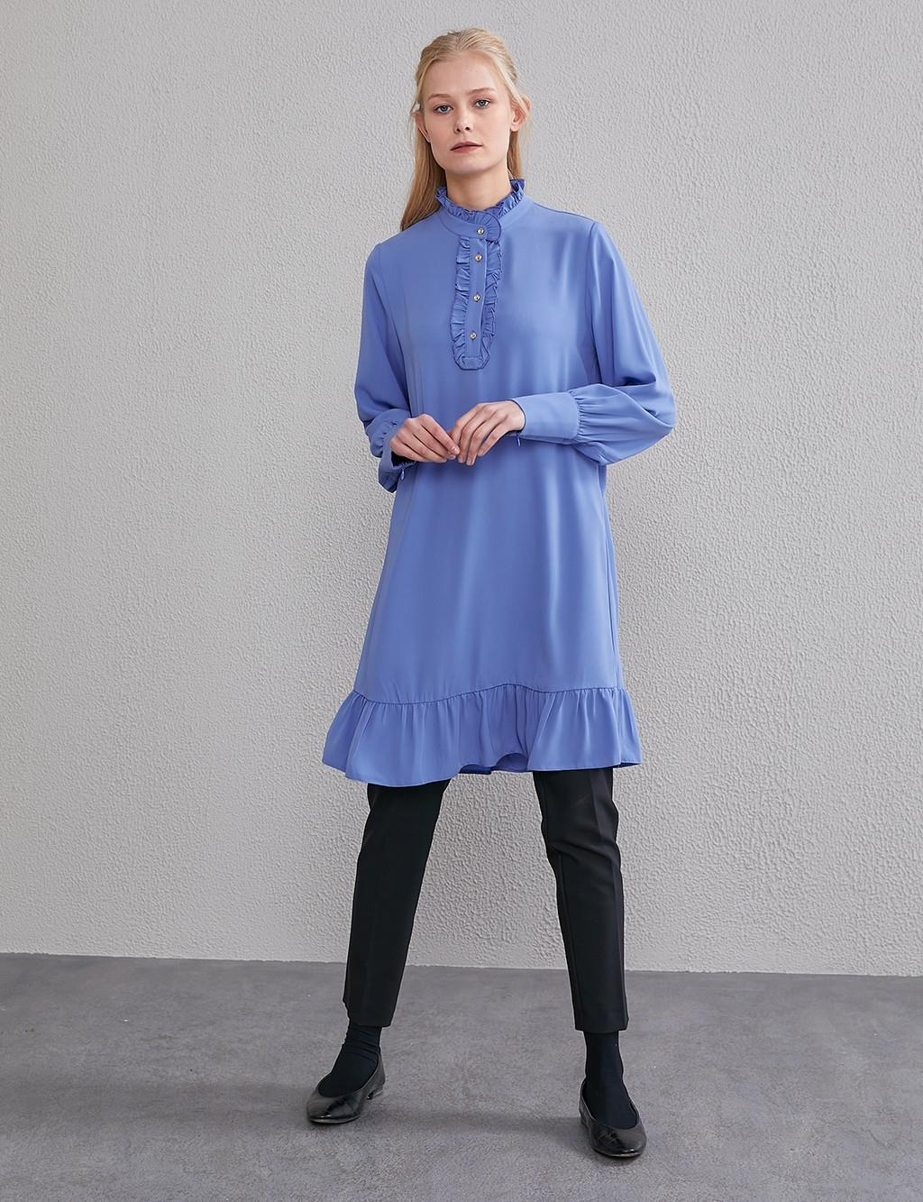 KYR Frill Detailed Tunic A20 81567 Blue