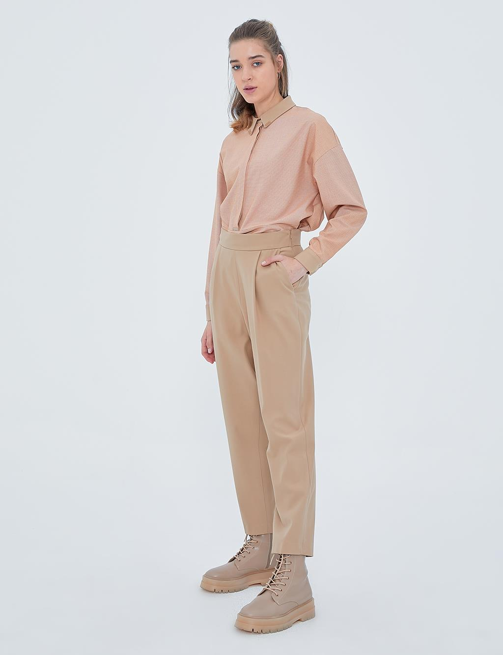 KYR Casual Fit Pleated Pants A20 79561 Beige