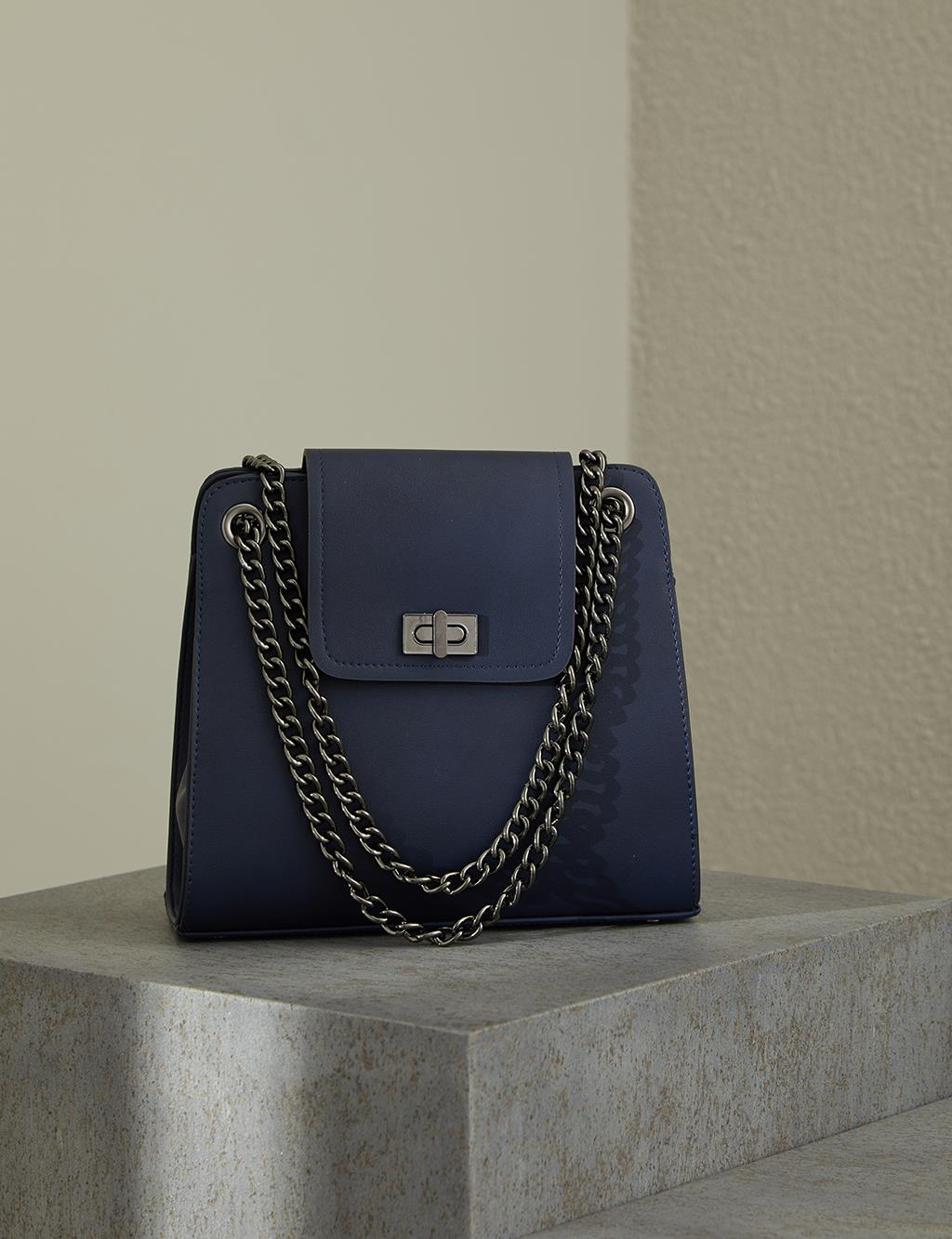 Chain Strap Bag With Cover A20 CNT20 Navy