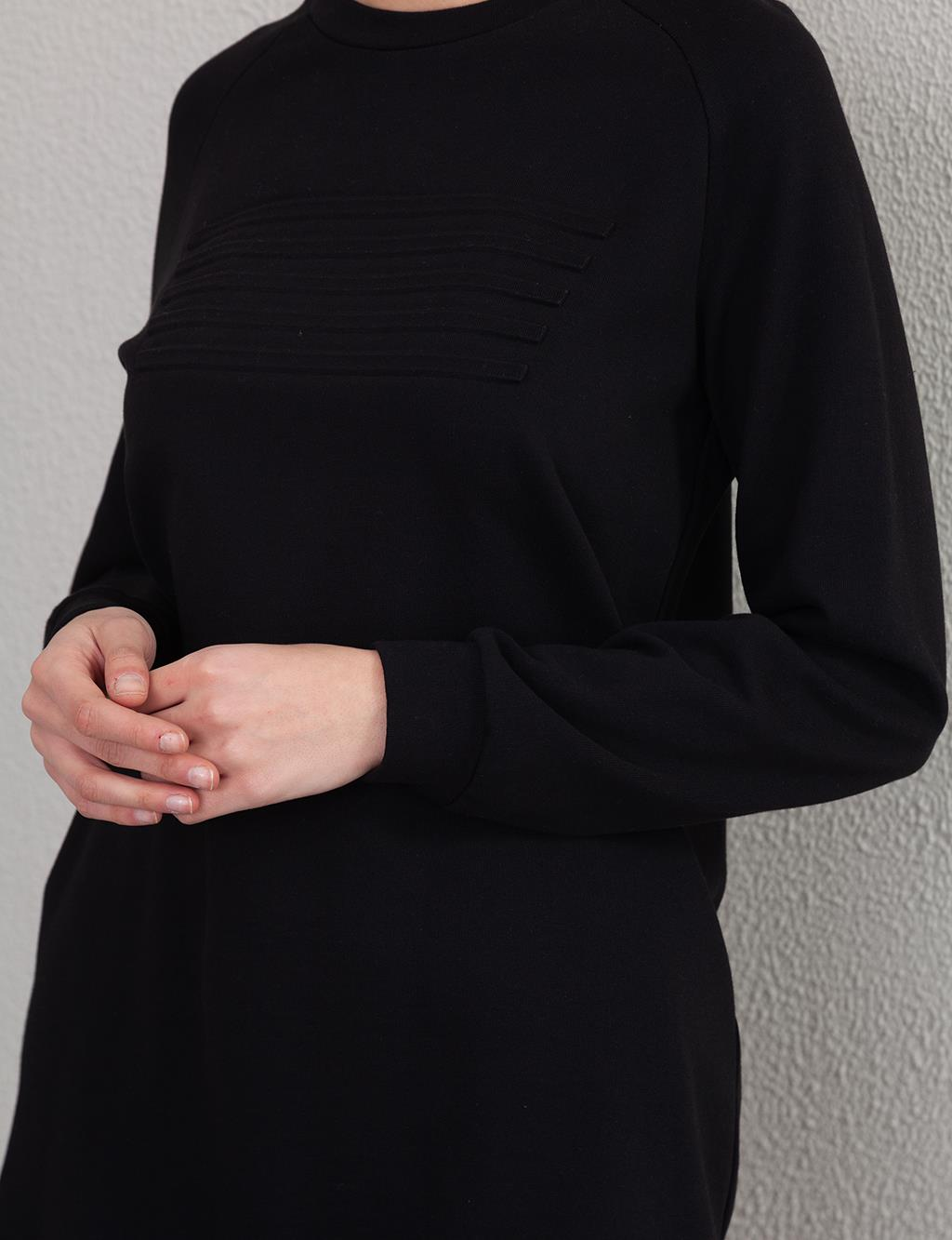 Embossed Sweatshirt A20 31006 Black